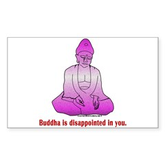 Buddha is Dissapointed Rectangle Decal