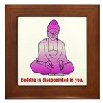 Buddha is Dissapointed Framed Tile