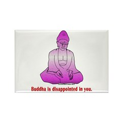 Buddha is Dissapointed Rectangle Magnet (10 pack)