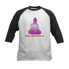 Buddha is Dissapointed Kids Baseball Jersey