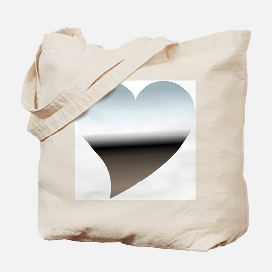 Modern Chrome Heart Tote Bag