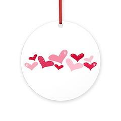 hearts Ornament (Round)