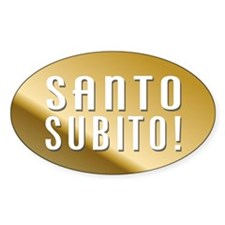 Santo Subito Bumper Sticker #3 by Covenant Gear