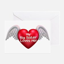 My Big Sister Love's Me! (hea Greeting Card