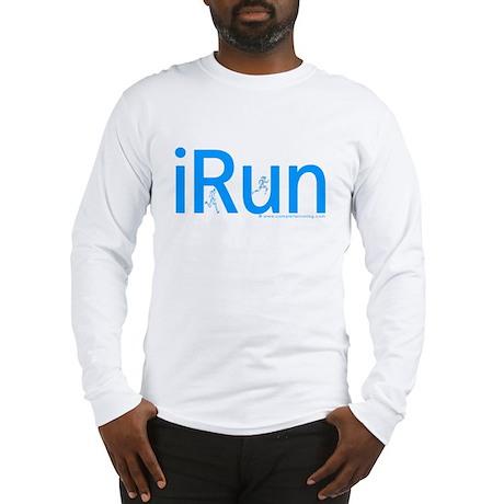 iRun (Blue Letters) Long Sleeve T-Shirt