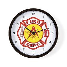 Masonic Fire Department Wall Clock