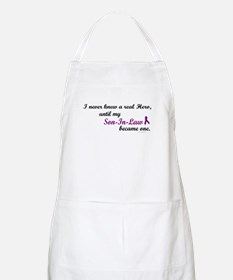 Never Knew A Hero SON-IN-LAW (Purple) BBQ Apron