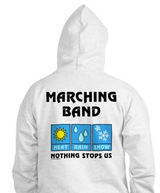 Marching Band Back Image Hoodie