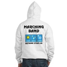 Marching Band Back Image Jumper Hoody