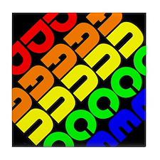 Rainbow Dance Tile Coaster