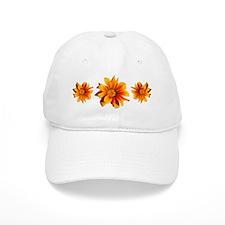 Beautiful Orange Gazania Garden Flower Baseball Cap