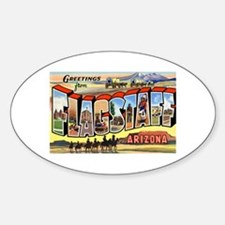 Flagstaff Arizona Greetings Oval Decal