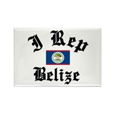 I love Belize Rectangle Magnet