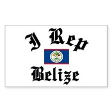 I love Belize Rectangle Decal