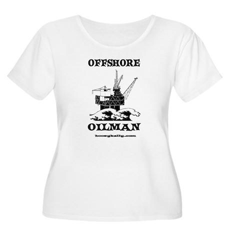 Offshore Oilman Women's Plus Size Scoop Neck T-Shi