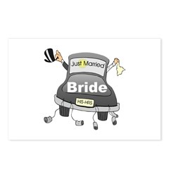 Bride Black Limo Postcards (Package of 8)