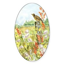 Meadow and Lark Oval Decal