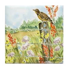 Meadow and Lark Tile Coaster