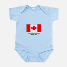 """Babies rock"" flag Infant Creeper"