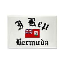 I rep Bermuda Rectangle Magnet (100 pack)