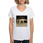 Saluki Best Friends Women's V-Neck T-Shirt