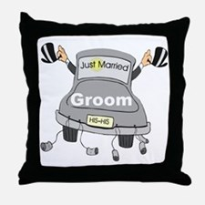Groom Black Limo Throw Pillow