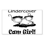 Undercover Cam Girl Rectangle Sticker