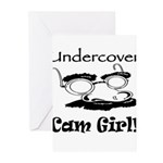 Undercover Cam Girl Greeting Cards (Pk of 10)