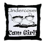 Undercover Cam Girl Throw Pillow