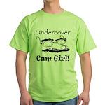 Undercover Cam Girl Green T-Shirt