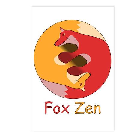 Fox Zen (Yin & Yang) Postcards (Package of 8)
