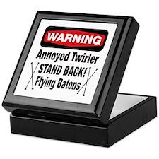 Warning Annoyed Twirler Keepsake Box