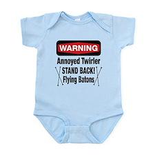 Warning Annoyed Twirler Infant Bodysuit