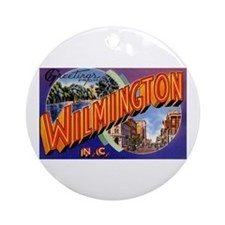 Wilmington North Carolina Greetings Ornament (Roun