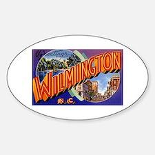 Wilmington North Carolina Greetings Oval Decal