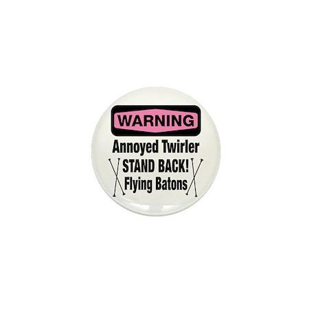 Warning Annoyed Twirler Mini Button (100 pack)