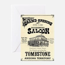 Occidental Saloon Greeting Card