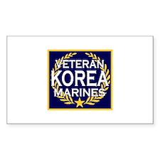 KOREA VETERAN Rectangle Decal
