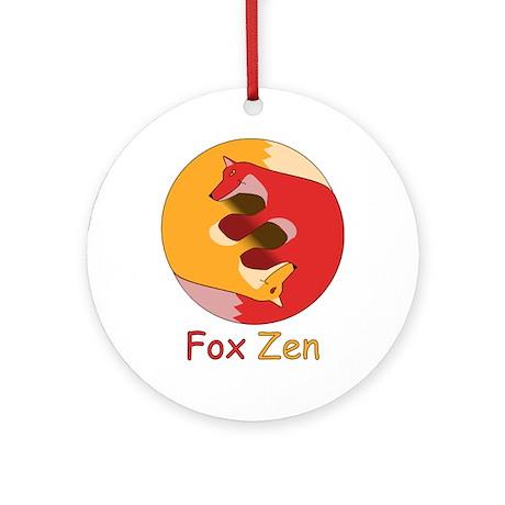Fox Zen (Yin & Yang) Ornament (Round)