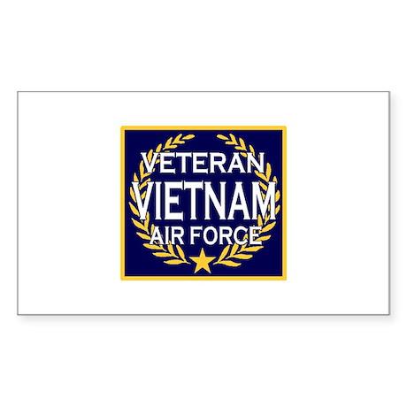 AIRFORCE VETERAN VIETNAM Rectangle Sticker