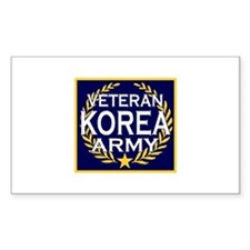 ARMY VETERAN KOREA Rectangle Decal
