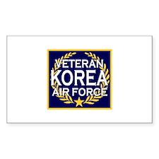 AIRFORCE VETERAN KOREA Rectangle Decal