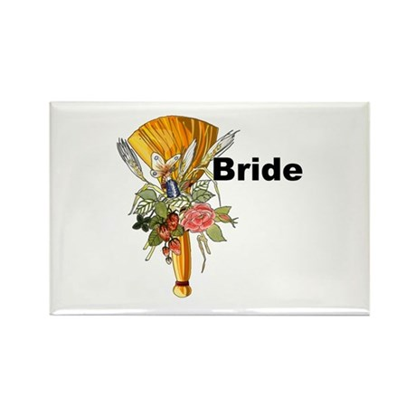 Jumping The Broom Bride Rectangle Magnet