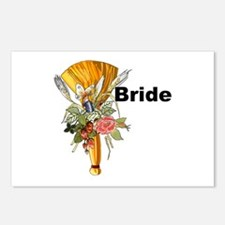 Jumping The Broom Bride Postcards (Package of 8)