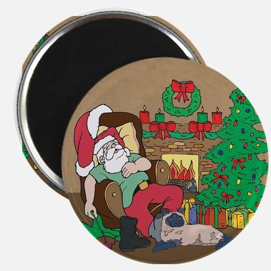 Santa's Himalayan Christmas Magnet