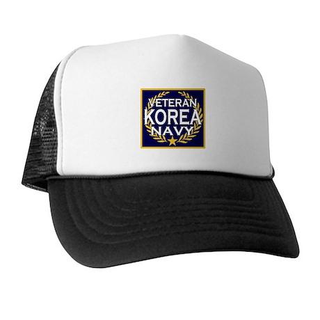 NAVY VETERAN KOREA Trucker Hat