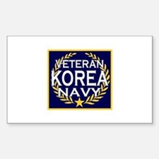 NAVY VETERAN KOREA Rectangle Decal
