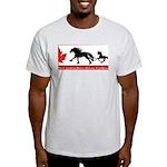 CHDC Logo: Light T-Shirt (grey, cream or lt blue)