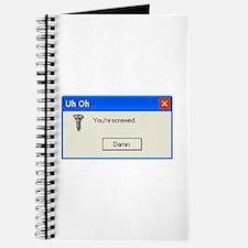 You're screwed error message Journal