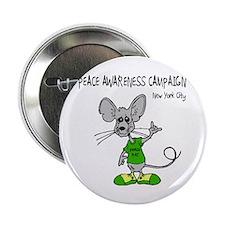 """Unique Rat peace rat 2.25"""" Button"""